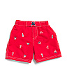 Infant Boys Embroidered Swim Trunks