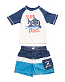 Toddler Boys 2pc Shark Rash Set