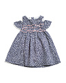 Infant Girls Cold Shoulder Dress