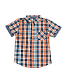 Big Boys Short Sleeve Woven Shirt
