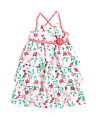 Little Girls Floral Tiered Dress