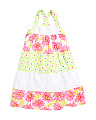 Little Girls Multi Print Dress