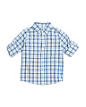 Boys Roll Up Sleeve Plaid Button Down Shirt