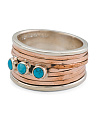 Made In India Sterling Silver And Copper Magnesite Ring
