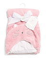 Sweet Kitty Sherpa Hooded Baby Blanket