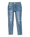 Big Girls Skinny Distressed Jeans