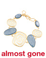 Made In Bali 14k Gold Plated 925 Silver Kyanite Swirl Bracelet