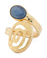 Made In Bali 14k Gold Plated Sterling Silver Kyanite Swirl Ring