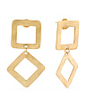 Made In Bali Gold Plate Silver Geometric Drop Earrings