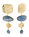 Made In Bali 14k Gold Plate Sterling Silver Kyanite Earrings