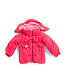 Little Girls Marielle Insulated Jacket With Working Compass