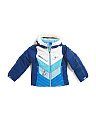 Little Girls Sierra Insulated Jacket With Faux Fur Trim