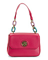 Made In Italy Flower Leather Shoulder Bag