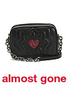 Made In Italy Quilted Love Leather Shoulder Bag