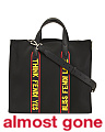 Made In Italy Nylon & Leather Tote Bag