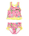 Infant Girls Emoji Tankini Swim Set