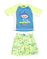 Toddler Boys Two-piece Shark Rash Set