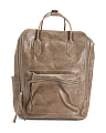 Convertible Leather Backpack