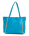 Leather Stud Front Tote