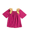 Girls Embroidered Stars Galaxy Dress