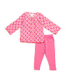 Baby Girls Dotted Heart Tunic & Legging Set