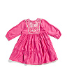 Baby Girls Embroidered Rose Dress