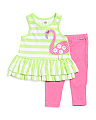 Newborn & Infant Girls Flamingo Capri Set