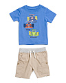Infant Boys Race Car T-shirt & Short Set