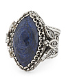 Made In Turkey Sterling Silver Sapphire Filigree Ring
