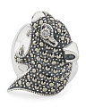 Sterling Silver Swarovski Marcasite Cz Panther Ring