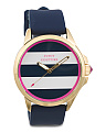 Women's Jetsetter Striped Dial Silicone Strap Watch