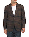 Modern Fit Wool Blend Check Sportcoat