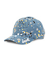 Girls Paint Splatter Dad Hat