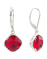 Sterling Silver Swarovski Crystal Lever Back Earrings
