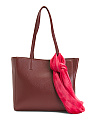 Leather Scarf Tote