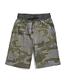 Big Boys Camo Jogger Shorts