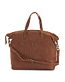 Saratoga Leather Glove Tooled Satchel