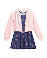 Big Girls Lace Bomber Jacket & Dress Set