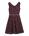 Big Girls All Over Glitter Lace Dress