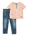 Infant Boys 2pc T Shirt & Pant Set