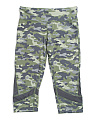 Big Girls Camo Performance Capris