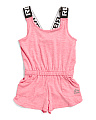 Toddler Girls Logo Elastic Strap Romper