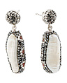 Made In Turkey Sterling Silver Crystal Oval Drop Earrings
