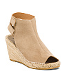 Made In Spain Wedge Suede Espadrilles