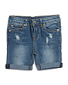 Little Girls Bermuda Denim Shorts