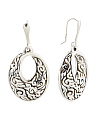 Made In Thailand Sterling Silver Electroform Drop Earrings