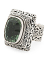 Made In Bali Sterling Silver Green Amethyst Ring