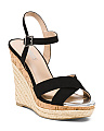Cork Bottom Espadrille Wedge Sandals