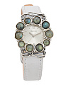 Women's Made In Israel Sterling Silver 22mm Gemstone Watch