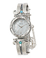 Women's Made In Israel Sterling Silver 22mm Opal Watch